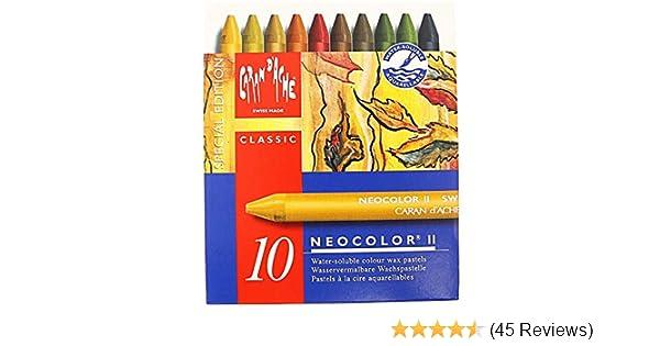 CREATIVE ART MATERIALS Neocolor II 10 Watersoluble Crayon Set-Autumn 7500.913
