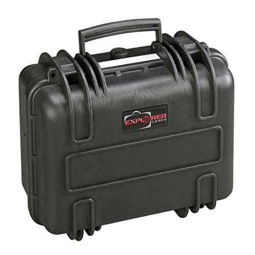 Explorer Cases 3317BPH Waterproof Case with Padded Divider System & Convoluted Foam Lid, Black by Explorer Cases