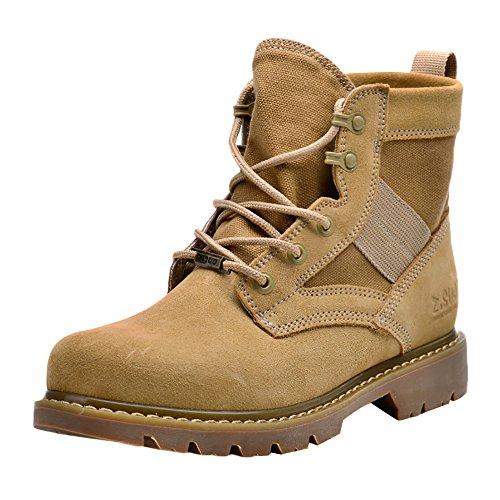Insun Unisex Erwachsene Stiefel Bootsschuhe Schnürhalb Schuhe Winterstiefel für Herren Damen Braun