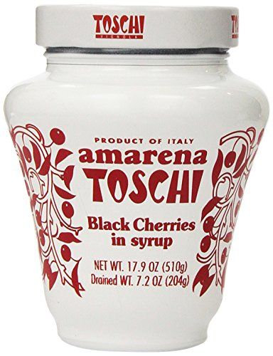 Amarena Toschi Italian Black Cherries in Syrup 17.9