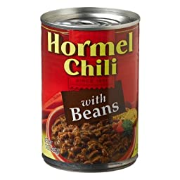Hormel, Chili with Beans, 15oz Can (Pack of 6)