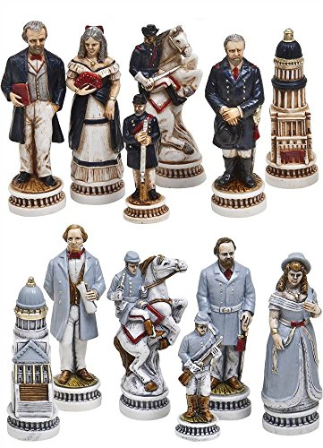 (Cambor Battle of Gettysburg Italian Made Hand-Painted Chess Set)