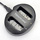 Newmowa Dual USB Charger for Nikon EN-EL14, EN-EL14a and Nikon P7000, P7100, P7700, P7800, D3100, D3200, D3300, D5100, D5200, D5300, Df