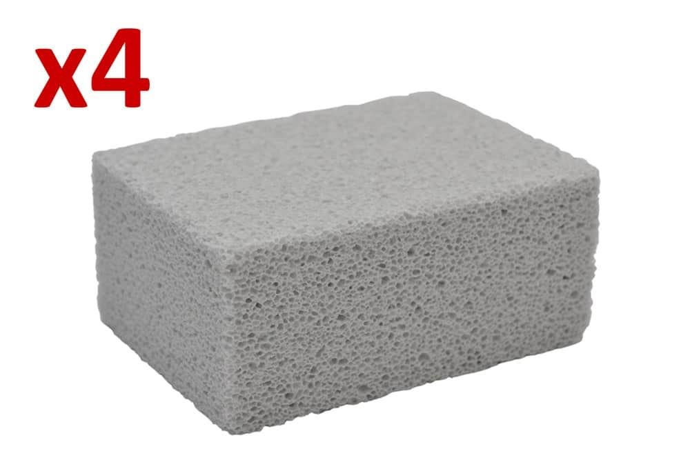 4X JANTEX Grill Brick Pumice Cleaning Stone Grill BBQ Cleaner Prevents Cure Loss