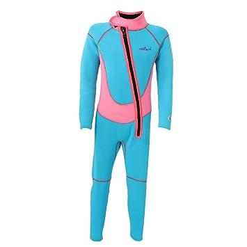 MonkeyJack Kids Spring Suit Wetsuit Long Sleeve 2.5mm Children Diving  Training Jumpsuit XS S M L XL XXL 3b5466ea7