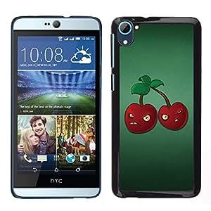 Stuss Case / Funda Carcasa protectora - Angry Grumpy Cherries Red Berries Healthy Food - HTC Desire D826