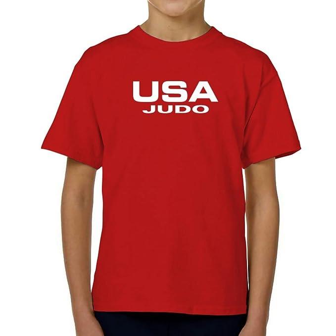 Teeburon USA Judo ATHLETIC AMERICA Camiseta Niño