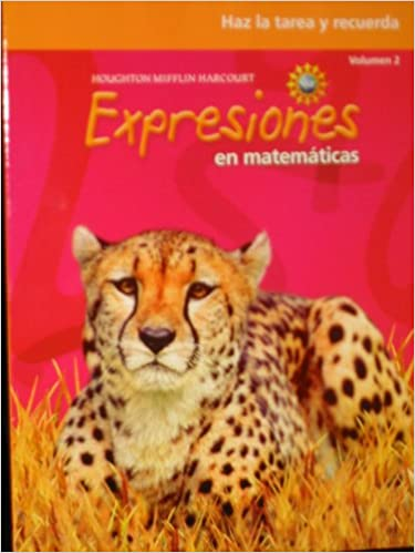 Math Worksheets houghton mifflin math worksheets grade 5 : Math Expressions Spanish: Homework & Remembering Workbook, Volume ...