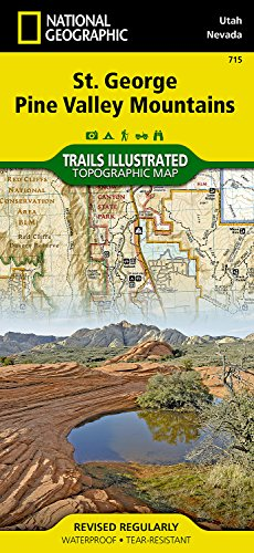 St George, Pine Valley Mountain (National Geographic Trails Illustrated Map) [National Geographic Maps - Trails Illustrated] (Tapa Blanda)