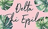 Delta Phi Epsilon - Sorority Letter Flag (Tropical Design)