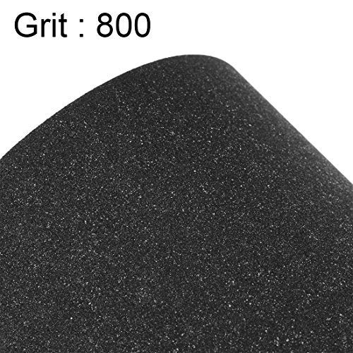 800 Grains Sanding sheets 9 inch X 11 inch Silicon carbide sandpaper dry and wet waterproof for wood Automotive Metal 10 pieces