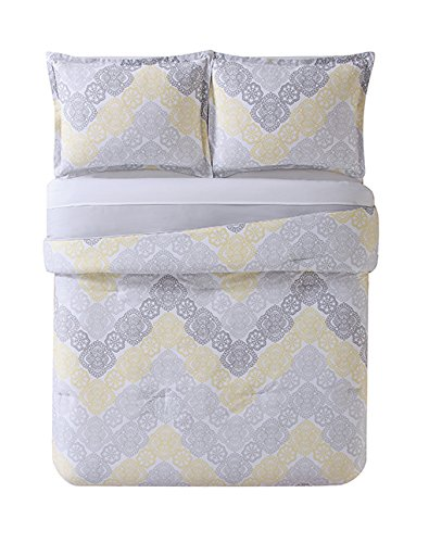 Laura Hart Kids XL Comforter and Sham, Twin X-Large, Antique Chevron Neutral