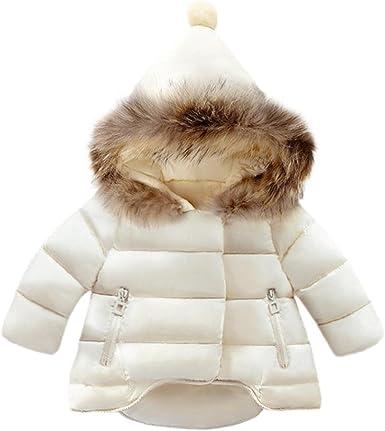 Rawdah Blousons Enfants Mignon Hoodies en Duvet Blousons Chaud Fille d'hiver Veste Manteau PkiuZX