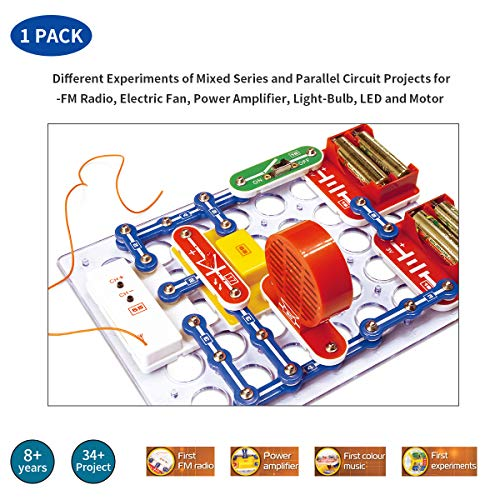 DALEBOX/or ZNATOK Cool Experiments of Electronics Circuits Discovery Kit - FM Radio/DC Motor/Power Amplifier (for 8+ Kids) ()