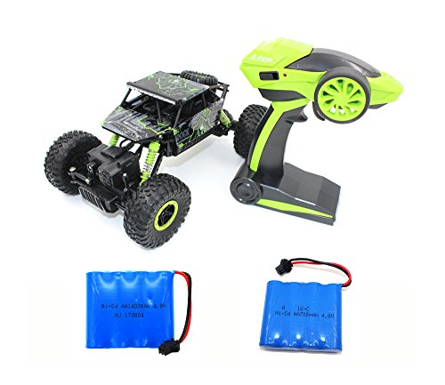 Green Racing Car (RC Car Rock Crawler Off-Road Red Electric Vehicle 4WD Remote Control Outdoors Entertainment High-Speed Racing Cars (Green))