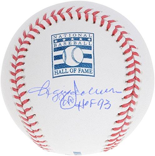 Reggie Jackson New York Yankees Autographed Hall Of Fame Logo Baseball with