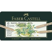 Pitt Pastel Pencils In A Metal Tin 12/Pkg-