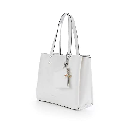 PACO MARTINEZ | Bolso shopper blanco en tejido doble faz ...
