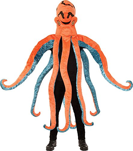 Adult Unisex Sea Creature Fancy Dress Party Outfit Octopus Big Head Costume (Sea Creature Costumes)