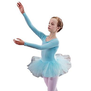 Uioy Traje de baile - Vestido flaco de ballet de mangas ...
