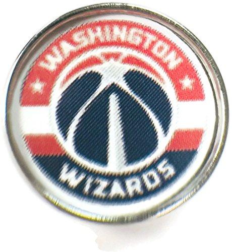 Snap Jewelry Fashion NBA Basketball Logo Washington Wizards 18MM - 20MM Snap Charm
