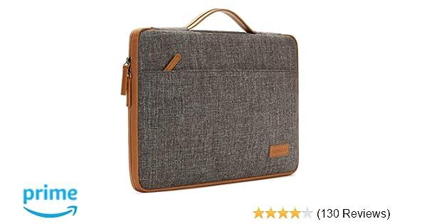 DOMISO 10 Inch Laptop Sleeve Canvas Notebook Portable Carrying Bag Case Handbag for 12