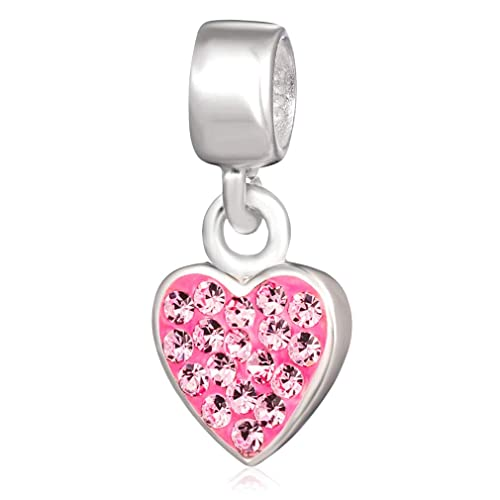 2a316257e Ollia Jewelry 925 Sterling Silver Dangle Beads My Heart Swayed in Your  Breeze Charm with Austrian