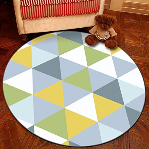 Price comparison product image Nodic Geometric Room Round Carpet Soft Play Area Rug Living Room Bedroom Home Decor Children Kids Playing Chair Mat