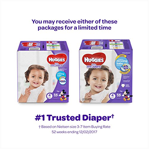 Large Product Image of HUGGIES LITTLE MOVERS Diapers, Size 6 (35+ lb.), 104 Ct. (Packaging May Vary), Baby Diapers for Active Babies