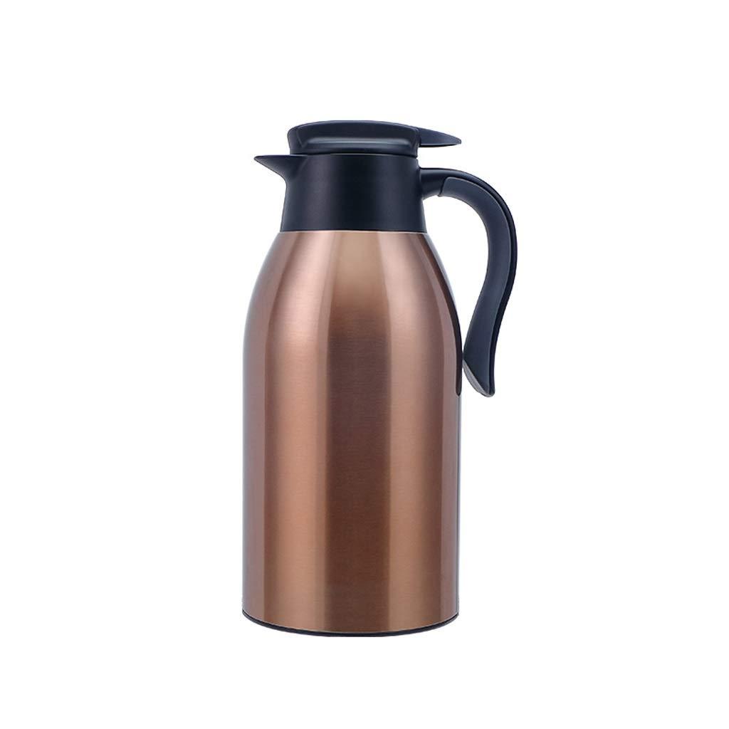 WLHW Trinkflaschen Isolierkanne, Kaffeekanne mit großer Kapazität, vakuumisolierte, isolierte Kaffeekanne, hochwertige isolierte Dosen für Saft Milch Tee