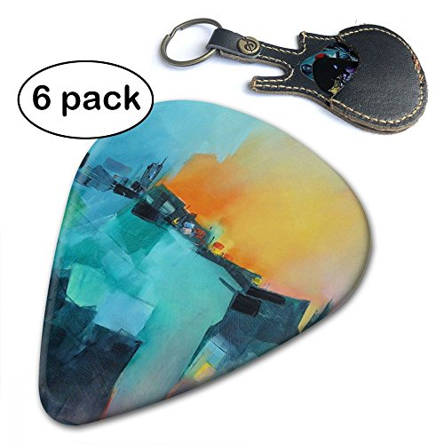C-Emily Unique Design 351 Shape Classic Guitar Picks (6 Pack) For Electric Guitar, Acoustic Guitar, Mandolin, And Bass (Thin, Medium, ()