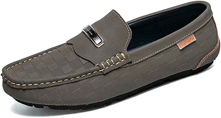 Menshoes Mens Driving Penny Loafers Round Toe Slip-on Casual Moccasins Soft Flat Sole Comfortable