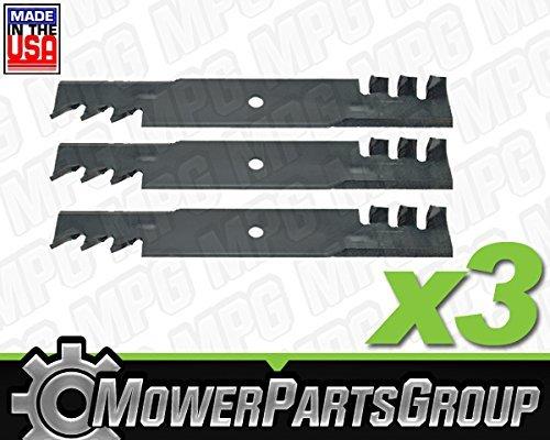 (MowerPartsGroup (3) Mulching Blades Fits Bad Boy 48