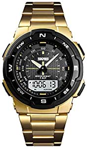 Men's Sports Watch Outdoor Waterproof Watch Display Electronic Movement Backlit Watches 47mm