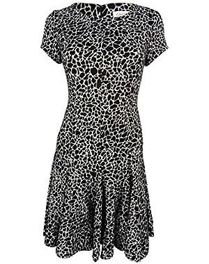 Women's Printed Short Sleeve Dress