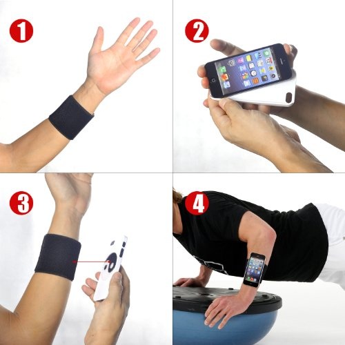 Tfy Sports Wristband Forearm Band For Iphone 5 Black