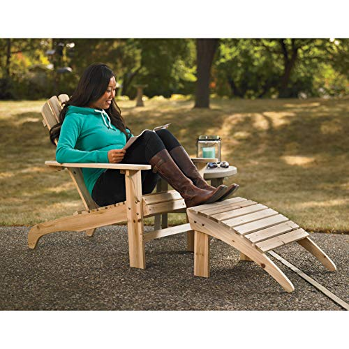 Wood Autonetic Advantage Leisure Bed Cedar Wood Classic Adirondack Armchair with Stool Inner Living Room Outdoor Garden Porch Beach