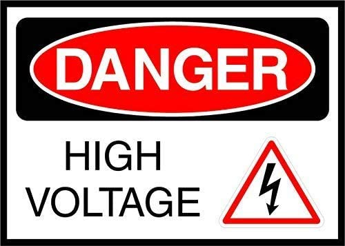 Danger High Voltage Osha Metal Aluminum Sign