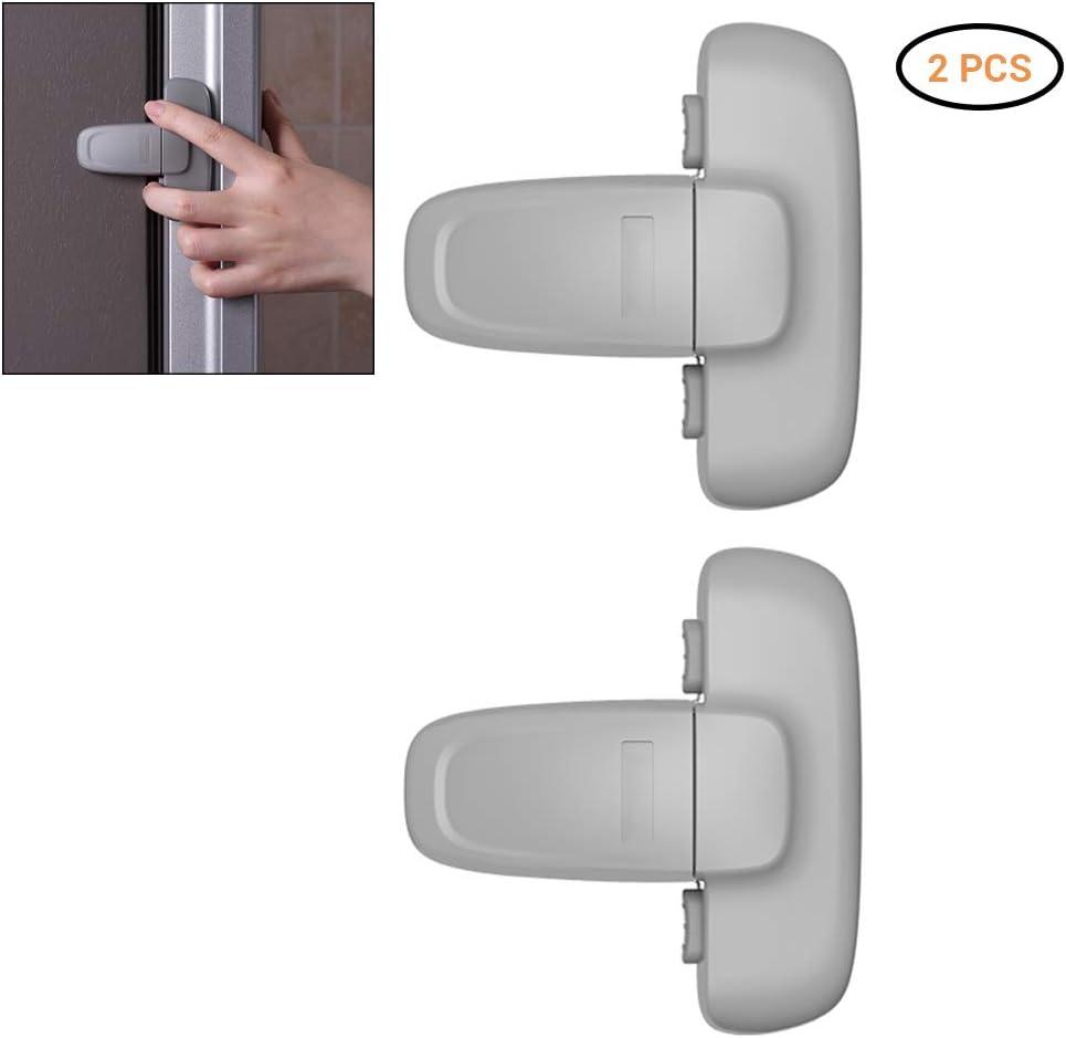 Yissma Cerradura para frigor/ífico y congelador f/ácil de Instalar y de Usar Cierre de Puerta con Cierre de Seguridad para ni/ños
