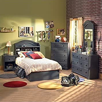 south shore summer breeze kids antique blue twin wood bed 3 piece bedroom set