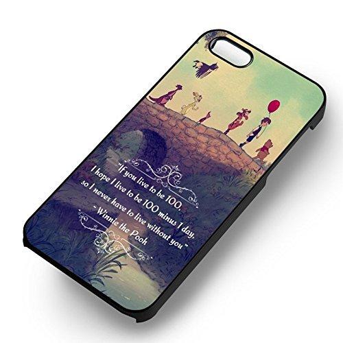Pooh Friendship Quote pour Coque Iphone 6 et Coque Iphone 6s Case (Noir Boîtier en plastique dur) F4B8LI