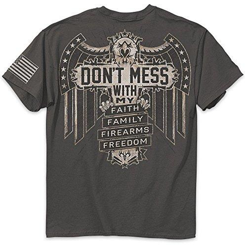 Buck Wear Don't Mess T-Shirt, XX-Large, Charcoal