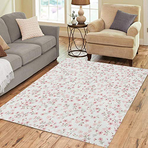 fd0c0eecc339 Pinbeam Area Rug Simple Cute Pattern in Small Flowers of Maiden Home Decor  Floor Rug 2' x 3' Carpet