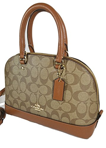 Im Satchel Purse Shoulder Sierra Shoulder Khaki Mini Inclined Coach Women��s Saddle Handbag pz0qFFx