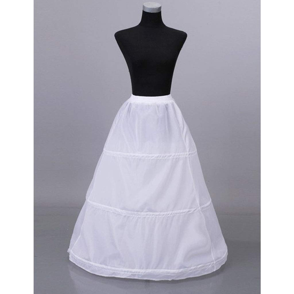 per feste ballo di fine anno bianco 3 cerchi elasticizzati in vita senza filo Youliy Pettiskirt sottogonna
