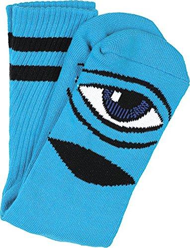 Toy Machine Sect Eye Iii Crew Socks Blue 1 Pair Skate Socks by Toy Machine