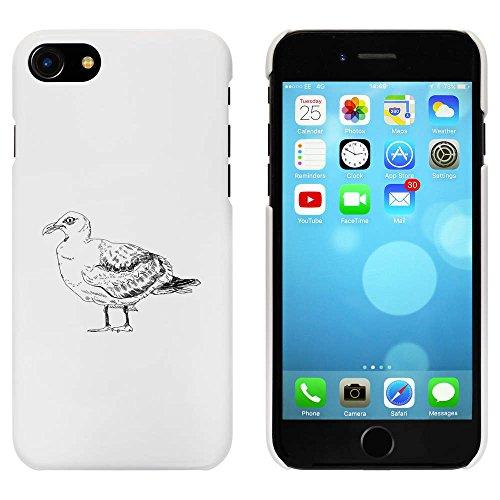 Weiß 'Mürrische Möwe' Hülle für iPhone 7 (MC00074592)