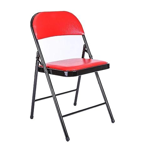 Amazon.com: Silla de oficina plegable, asiento de comedor ...