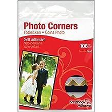 "Scrapbook Adhesives Paper Photo Corners Self-Adhesive 108/Pk-.5"" Gold"