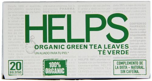 Helps Organic Green Tea, 20 Count (Pack of 6) by Helps